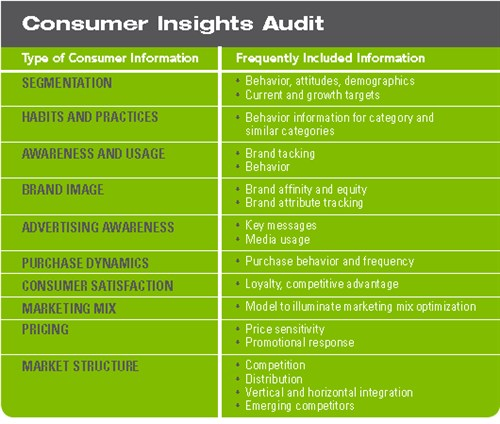 Consumer Insights Audit Checklist