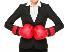 Women with Boxing Gloves